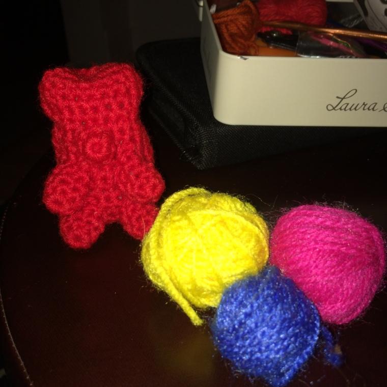 First Twinkie Chan pattern gummy bear + tiny balls